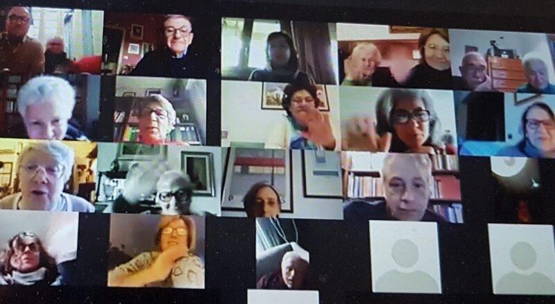 Comunità Cvx Palermo in riunione su Zoom