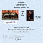 Concerto solidale 2015, Folk & Jazz