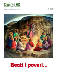 Schede Beatitudini | Copertina Gentes supplemento 2016