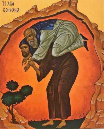 Icona della Santa comunione Monastero di Bose
