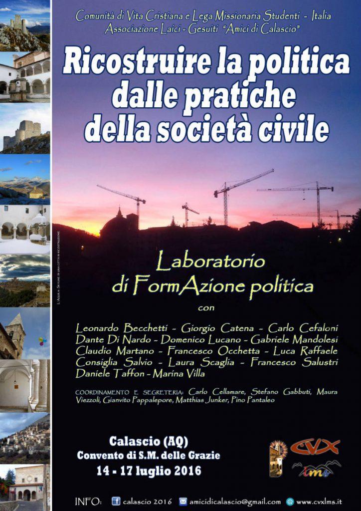 Laboratorio formazione politica Calascio