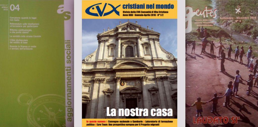 Le nostre riviste | Aggiornamenti sociali, Cristiani nel Mondo e Gentes