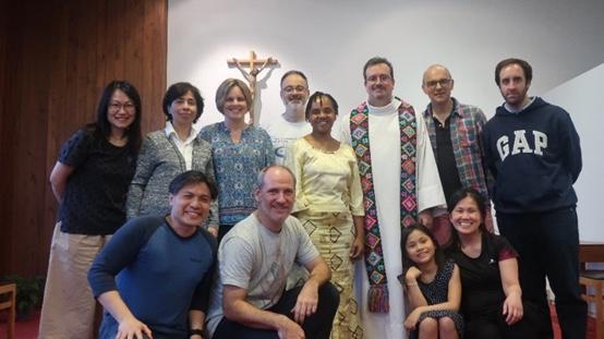 Padre José de Pablo SJ con l'Esecutivo mondiale Cvx