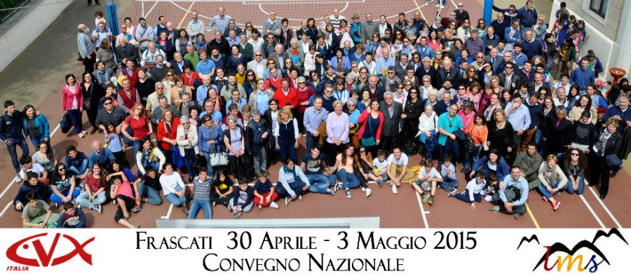 Convegno CvxLms 2015 | Foto di gruppo dopo l'assemblea nazionale di Frascati
