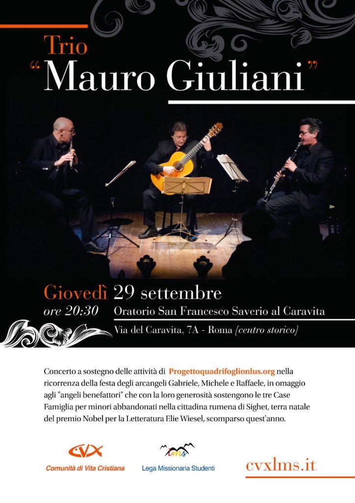 Trio Mauro Giuliani in concerto a Roma